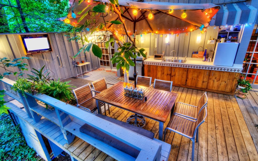 adequate lighting will improve the safety of your deck